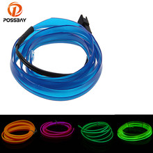 POSSBAY 4 M Steady on Flexible Neon Light LED Strip Glow Wire LED Shoes Neon Lights Clothing Super Bright illumination(China)