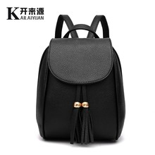 KLY 100% Genuine leather Women backpack 2016 New Female Student Backpack Spring and summer fashion simple women Backpack