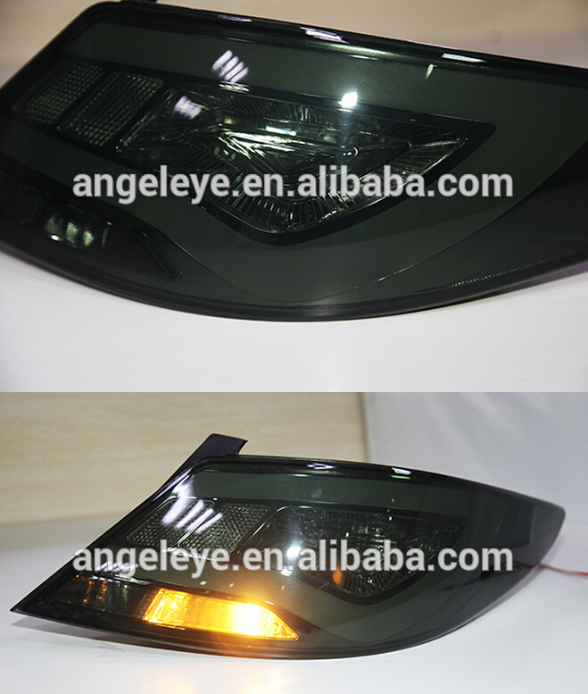 2011-2013year For Hyundai Accent Verna LED Tail Lamp 2011-2013year Smoke Black YZ Type