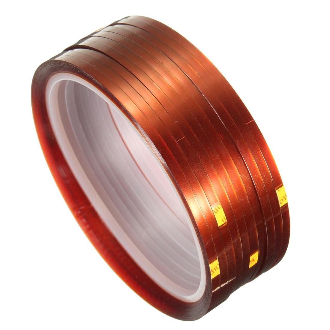 EWS-10 rolls 33mx3mm Heat Resistant Heat Temperature Adhesive Tape Sublimation Mug Tape,Brown color