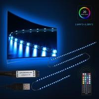 Oobest 3m RGB LED TV Backlight Flexible Wardrobe Strip Light PC Background Lighting Kit With 44Key