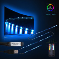 Oobest 3m RGB LED TV Backlight Flexible Wardrobe Strip Light PC Background Lighting Kit With 44Key
