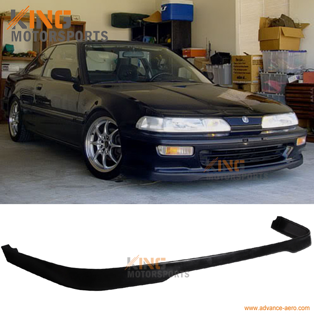 For 1992 1993 Acura Integra T R Style Front Bumper Lip Spoiler PU Boky Kit