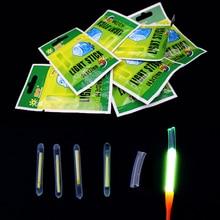 50 sticks/lot Mini Fishing Fish Fluorescent Lightstick Light Night Float Rod Lights Dark Glow Stick Useful Lots Luminous pesca
