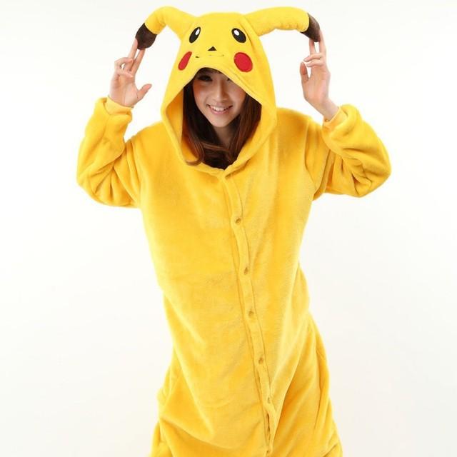 34ebf39bc Barato de Invierno Unisex Adultos Pijamas Cosplay Animal Onesie Pijamas  Stitch Pikachu Unicorn Tigger de Cebra