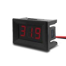 """DC 2,4 V-30 V/0-100 V 2 провода/3 Провода вольтметр Мини 0,3"""" цифровой Напряжение измерителем влажности и температуры для авто электрические приборы метров"""