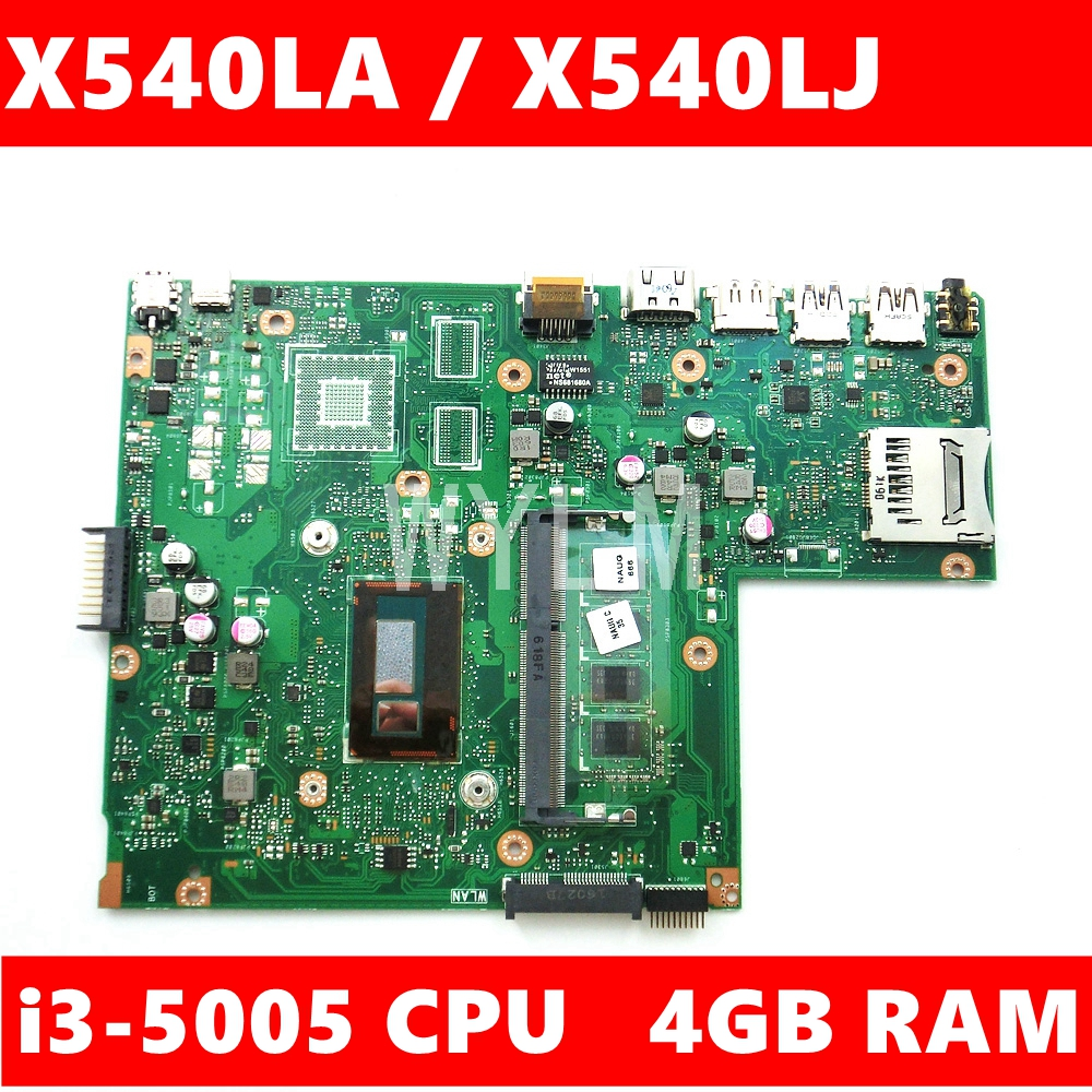 X540LA MB._4G/I3-5005U/AS 4GB RAM 90NB0B00-R00020 Mainboard REV2.0 For <font><b>Asus</b></font> X540L X540LJ <font><b>X540</b></font> F540L Laptop <font><b>Motherboard</b></font> Test ok image