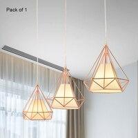 YWXLight Nordic Modern Pendant lights Diamond LED Ceiling Lamp for Kitchen Restaurant Bar Living Room Bedroom Lighting Fixture