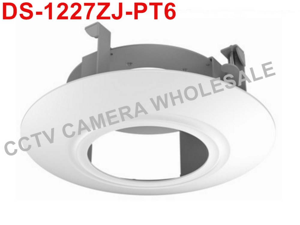 цена на DS-1227ZJ-PT6 in-ceiling mount bracket for mini PTZ CCTV camera indoor / outdoor DS-2DE3304W-DE