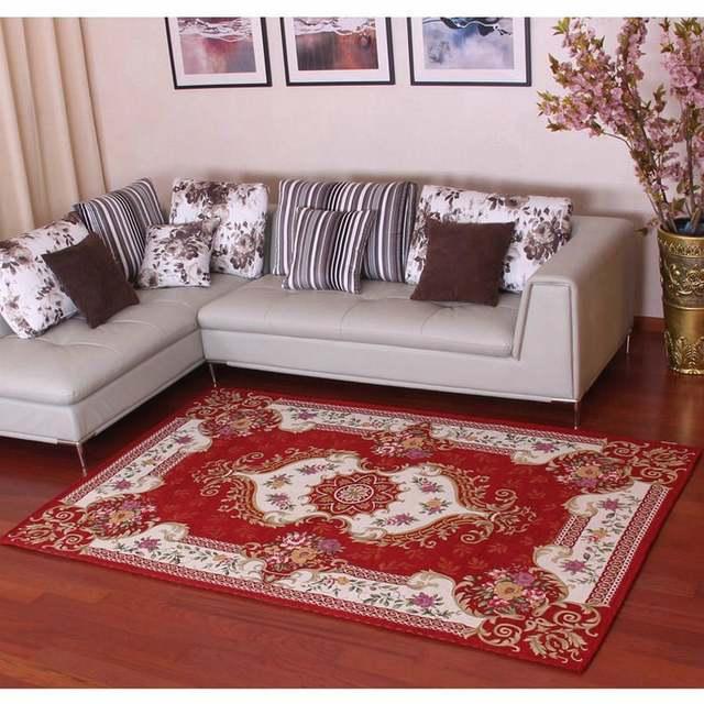€15.03 50% de réduction|Nouveauté style européen anti dérapant Premium  Jacquard tapis pour salon rouge/noir/marron/crème tapis tapis de sol-in  Tapis ...
