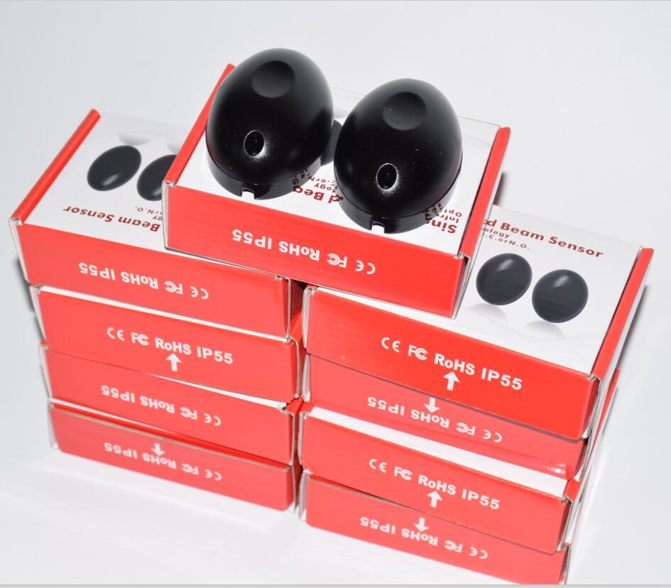 10 pecas por pacote 10 m 12vac dc wired infrared sensor de fotocelula para portas automaticas