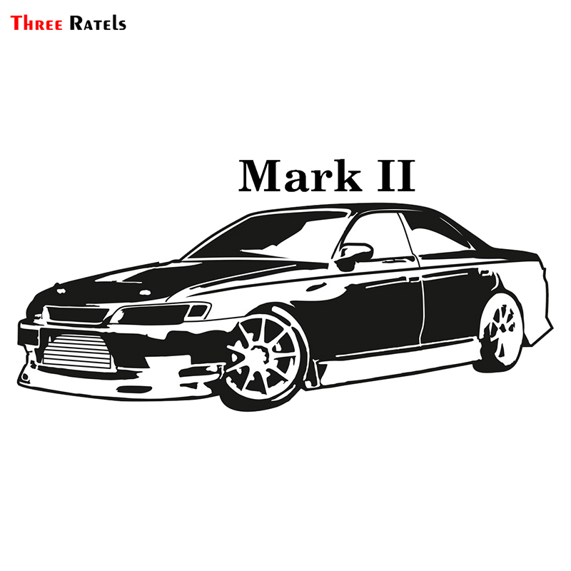 Three Ratels TRL655# 15x7cm Funny Car Stickers For Toyota Mark II Mark 2 Colorful Car Stickers And Decals