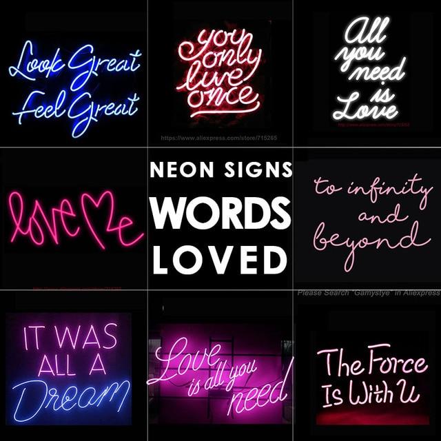 Amour néon signe blanc bureau barre signe néon signe pour chambre salon noël fête décor Ultra lumineux néon veilleuse