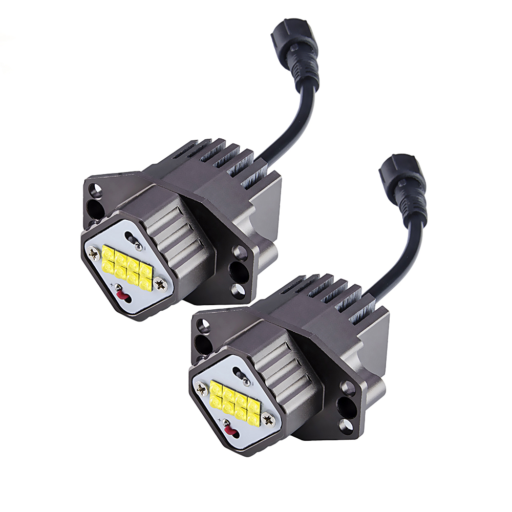 flytop LED Marker Angel Eyes 2*80W 160W for CREE LED Chips 2 Pieces(1 Set) XENON White 7000K for BMW E90 E91 2 pieces 1 set 2 10w 20w led marker angel eyes for cree led chips xenon white for bmw e90 e91