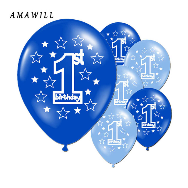 20pcs 1st Birthday Balloon Lettering Happy Balloons Thickening 12inch Latex Ballon Party Decorations Kids
