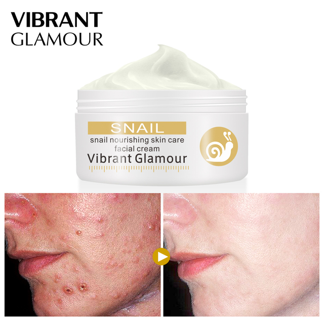 VIBRANT GLAMOUR Face Cream Snail Cream Repairing Skin Scars Soothing ...