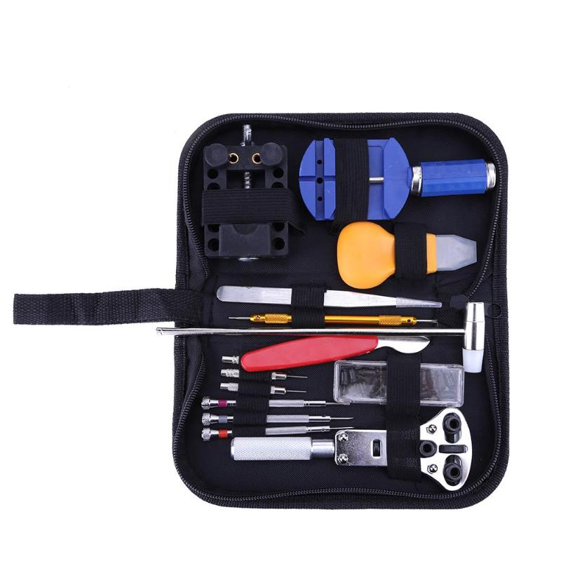 цена на 147pcs Watchmaker Watch Link Pin Remover Case Opener Repair Tool Kit Set Opener Link Spring Bar Remover Horlogemaker Gereedschap