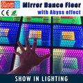 High Quality Popular RGB 3in1 Abyss Decoration Wedding DJ Disco Party 3D Effect Mirror WIFI DMX LED Dance Floor With Flightcase