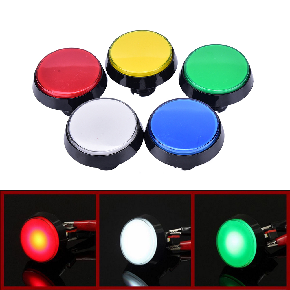 Hot selling 1 x Arcade Button 60MM LED Light Lamp Big Round Arcade Video Game Player Push Button Switch Promotion(China)