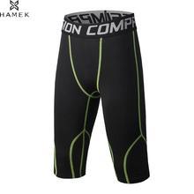 Детские компрессионные колготки 3/4 штаны для бега быстросохнущие фитнес-теннисные беговые леггинсы для баскетбола Мальчики крутые футбольные брюки