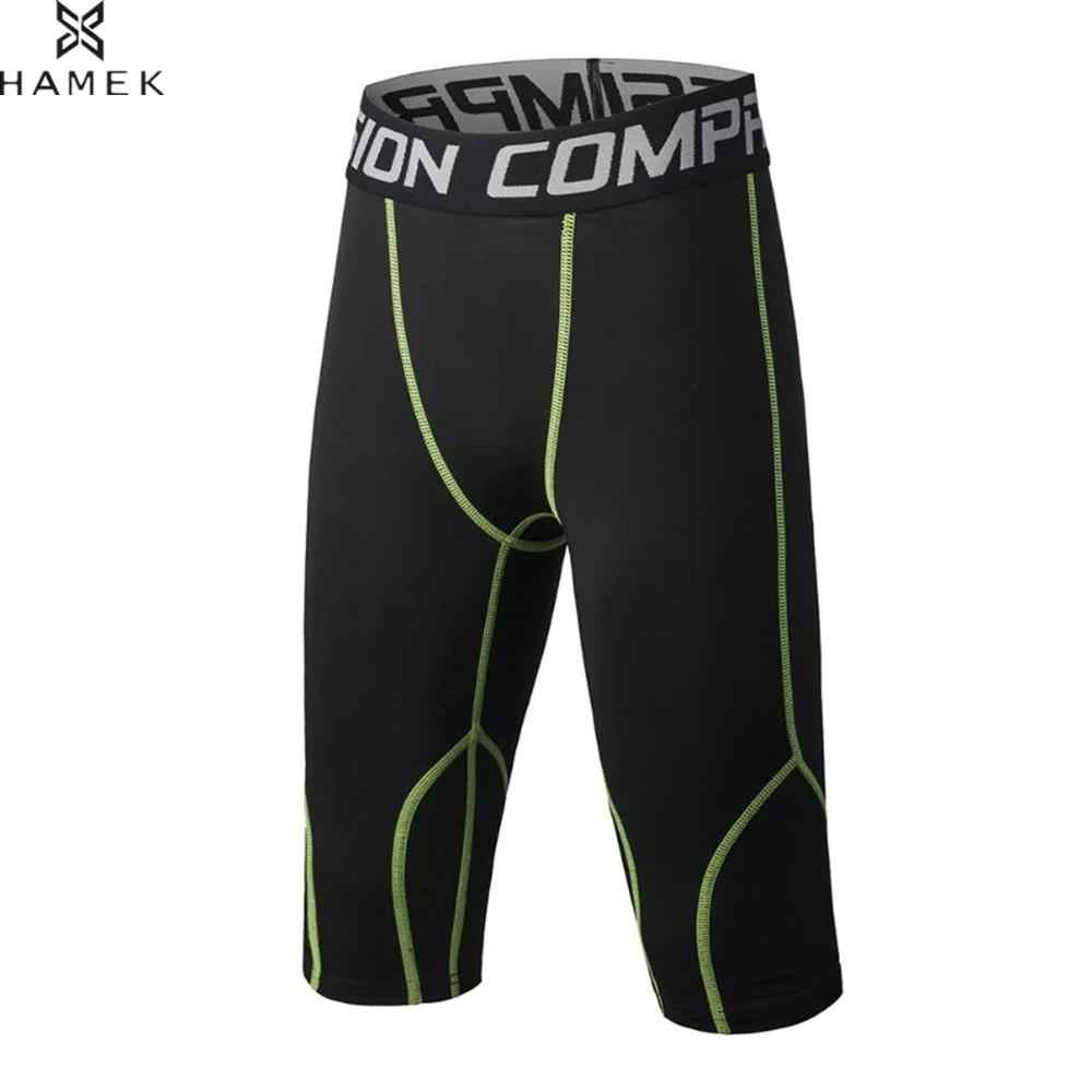 db3a98319 Kids Compression Tights 3/4 Running Pants Quick Dry Fitness Tennis Jogging  Basketball Legging Boys