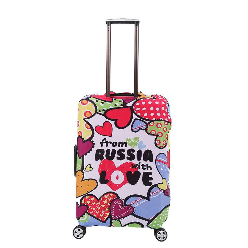3D Colorful Heart Print Luggage Protector Travel Luggage Cover Trolley Case Protective Cover Fits 18-32 Inch