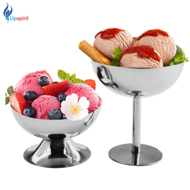 New Creative Stainless Steel Cocktail Goblets Ice Cream Cups Dessert Fruit Salad Sorbet Bowl For