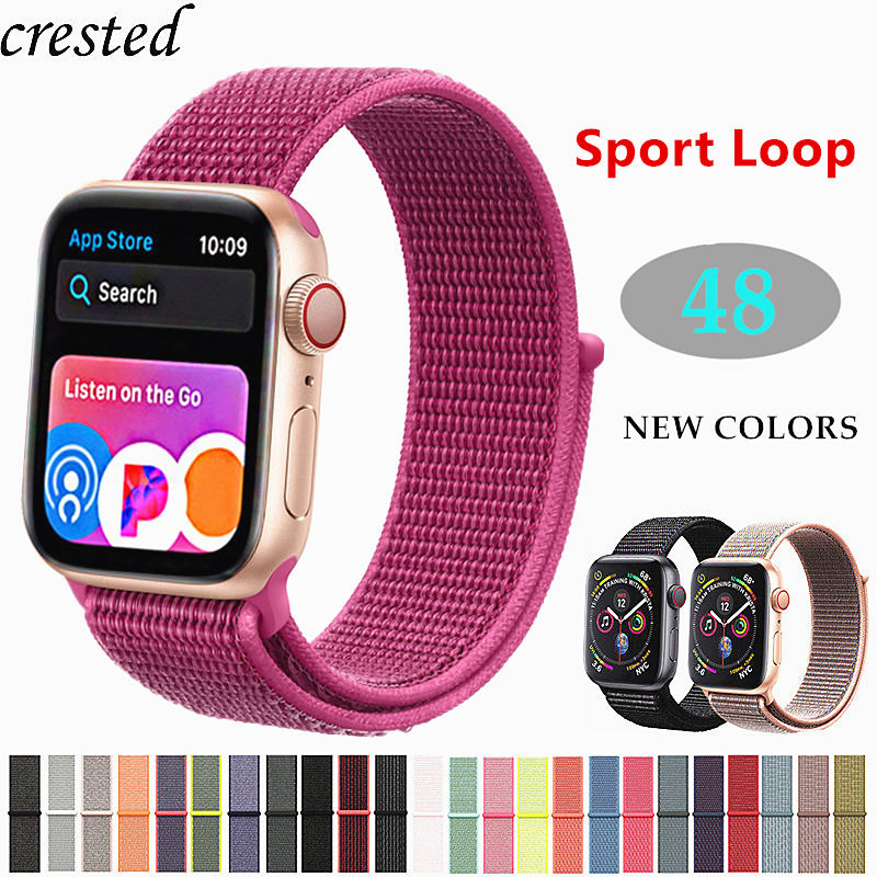 Sport loop for Apple watch Band strap Apple watch 4 band 44mm 40m iWatch band 42mm 38mm Nylon bracelet watchband series 3 2 1 44 apple watch 4 44mm bands