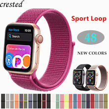 купить Sport loop for Apple watch Band strap Apple watch 4 band 44mm 40m iWatch band 42mm 38mm Nylon bracelet watchband series 3 2 1 44 по цене 83.46 рублей