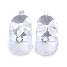 Spring Autumn Infant Shoes Newborn Baby Girls Princess Style Bowknot Shoes Bow Silk Ribbon Soft Soled Footwear shoe(China)