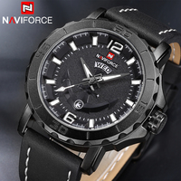 2017 NAVIFORCE Brand Men Fashion Casual Sport Watches Men Waterproof Leather Quartz Man S Watch Military
