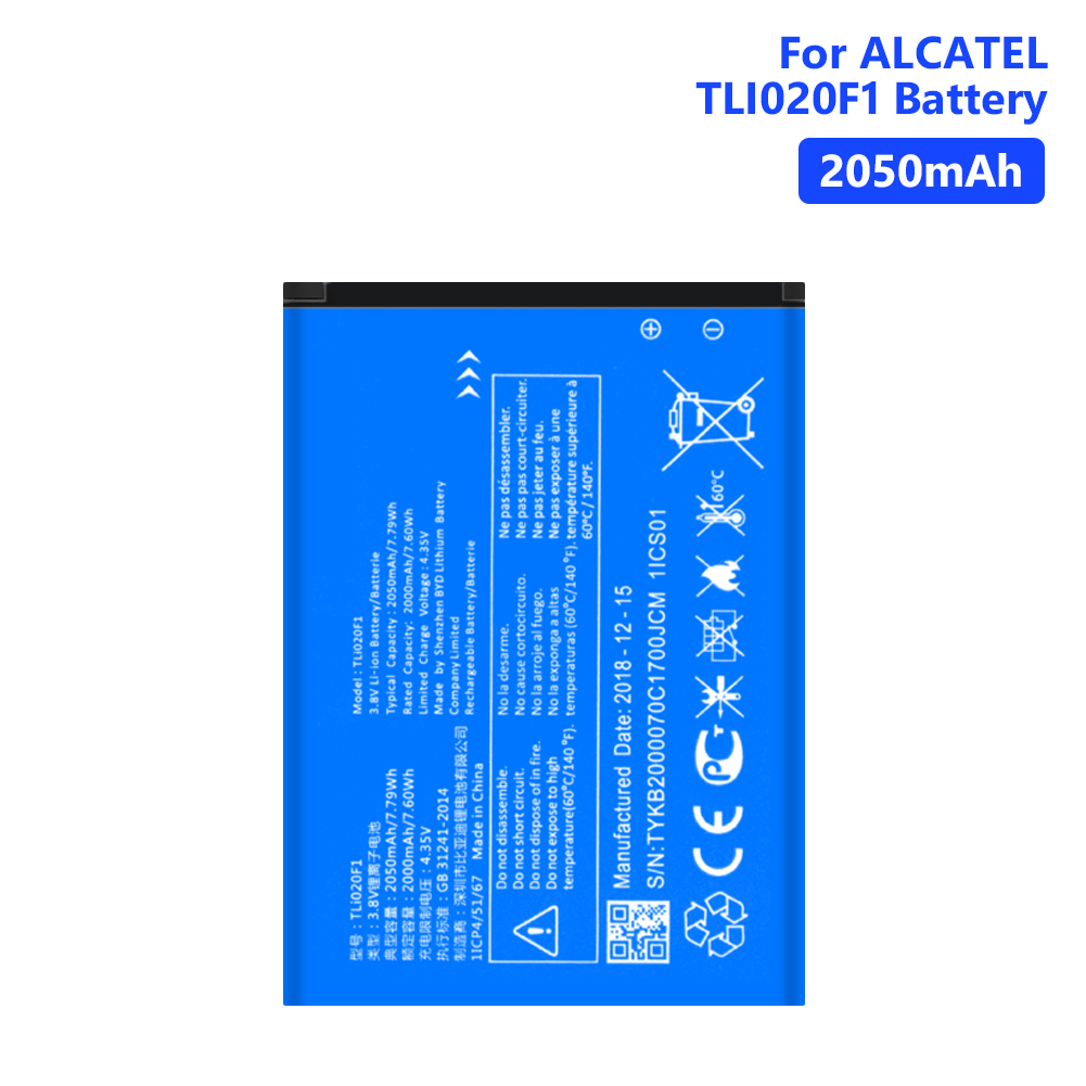 YCDC 2050mAh TLi020F1 Lithium Battery For Alcatel U5 5044D Mobile Phone Batteries