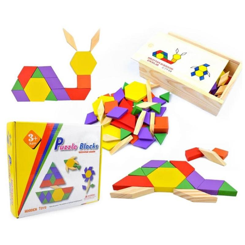 multifunction New Fashion Games and Puzzles Wooden Tangram Shape Jigsaw Puzzle Geometric Shape Kids Educational Toys
