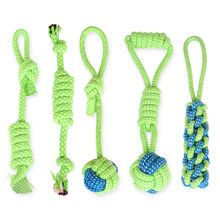 Cotton Dog Rope Toy Knot Puppy Chew Teething Toys Teeth Cleaning Pet Palying Ball For Small Medium Large Dogs A02 pet dog puppy chew tug teeth cleaning knot toy tennis ball w rope