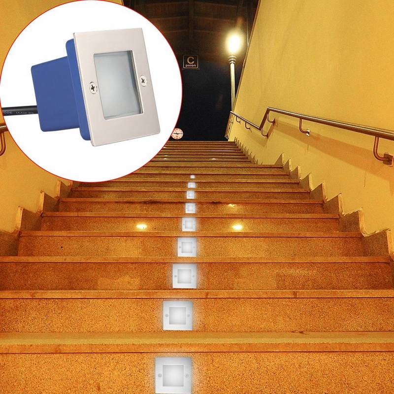 Led Lamps Hot Sale Square Durable 1w Led Underground Light Ip65 Led Ground Lamps Buried Light Pathway Path Step Stair Wall Garden Yard Lamp 50% OFF Lights & Lighting