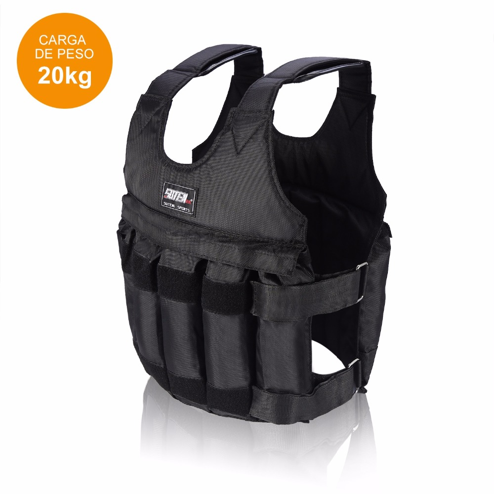20kg 50kg Adjustable Fitness Weighted Vest Exercise Training Fitness Jacket Gym Workout Boxing Waistcoat Fitness Equipment