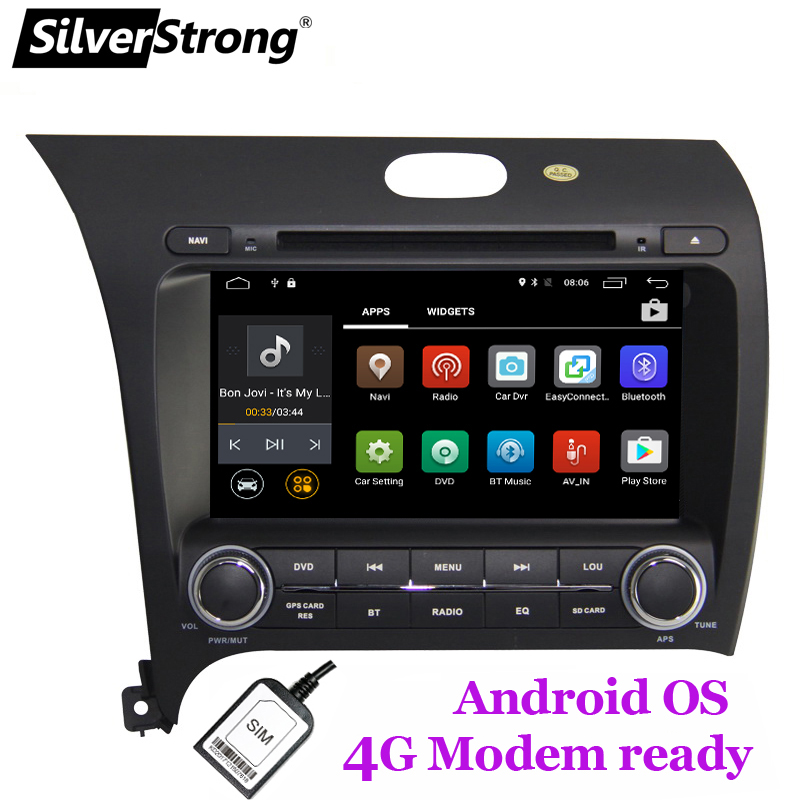 SilverStrong 2din 8inch Android8 1 with 4G LTE MODEM 2GB DDR3 Car DVD Player For Kia