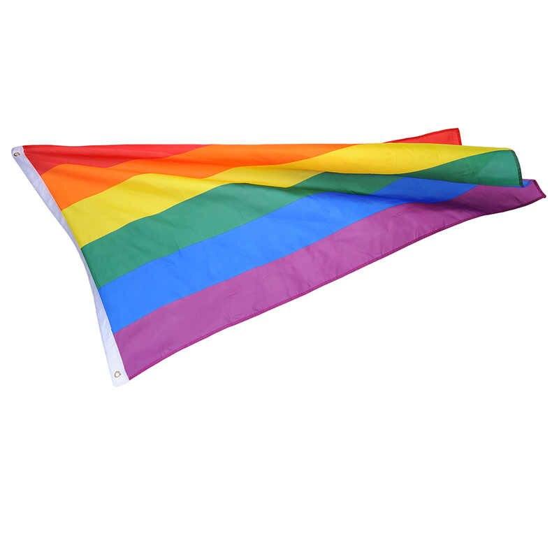 ธงรุ้งที่มีสีสัน Rainbow Peace ธงโพลีเอสเตอร์เลสเบี้ยนเกย์ Parade ธงแบนเนอร์ LGBT Pride LGBT Flag Home ตกแต่ง 3 ขนาด