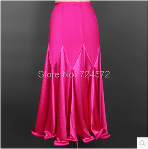 Image 4 - Ballroom dance costume sexy  spandex ballroom dance long skirt  for women ballroom dance competition skirt 2kinds of colors