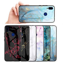 For Redmi Note 7 6 Pro Case Luxury Hard Tempered Glass Fashion Marble Protective Back Cover case For Xiaomi Mi 9 full cover for redmi note 7 6 pro case luxury hard tempered glass fashion marble protective back cover case for xiaomi mi 9 full cover