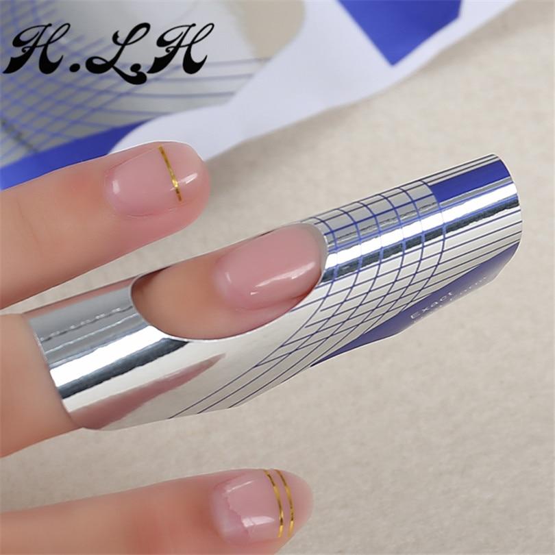 H.L.H 손톱 확장을위한 설정 청색 헤드 유형 모양 - 네일 아트