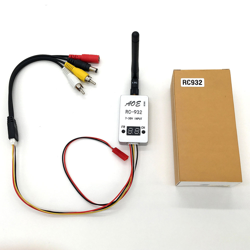New 5.8G Wireless 5.8GHZ 32CH Video RX Receiver 7-30V DC Input for FPV Wifi Aerial Photo Car Video Backview System RC932