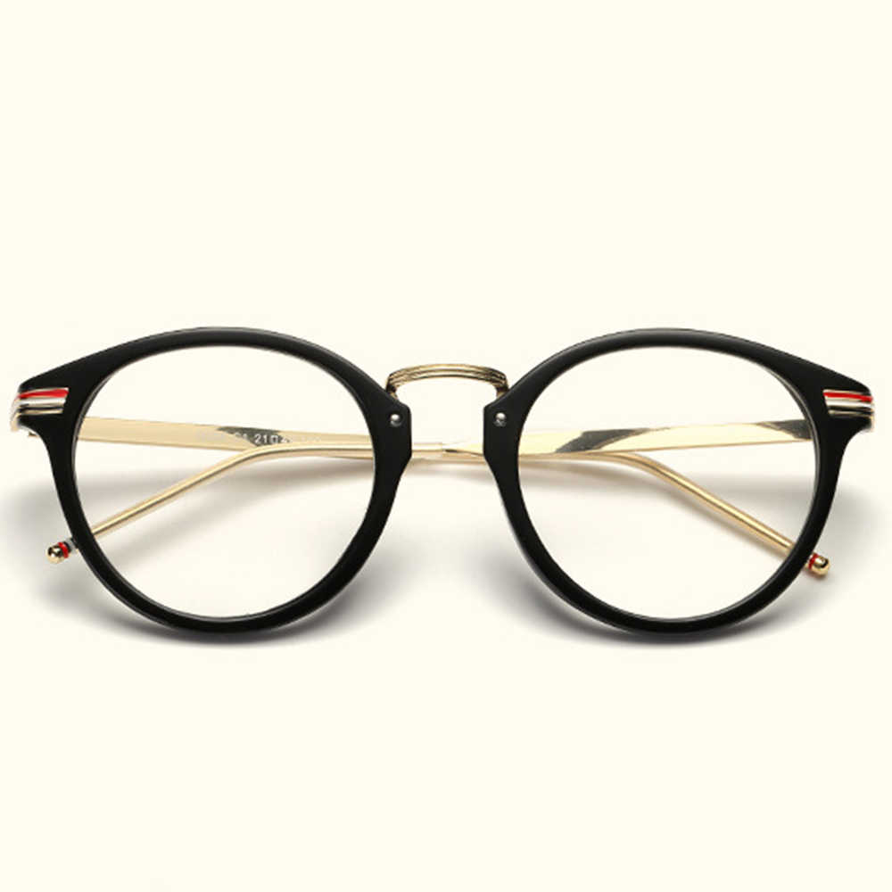 Fashion Personality Round Comfortable Frame Classic TREND Spectacles with Optical Lenses or Photochromic Gray / Brown Lenses