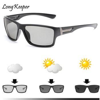 Long Keeper Photochromic Sunglasses Men Women Polarized Chameleon Discoloration Sun Glasses Eyeglasses Sport Square Driving New