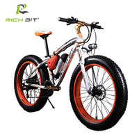 RICHBIT 36V 10 4AH Lithium Battery Electric Bike 21 Speed Electric Fat Bicycle 26 Inch Mountain