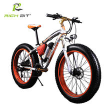 RICHBIT 36V 10.4AH Lithium Battery Electric Bike 21 Speed Electric Fat Bicycle 26 Inch Mountain Bike Road Cycling Bicycle Unisex