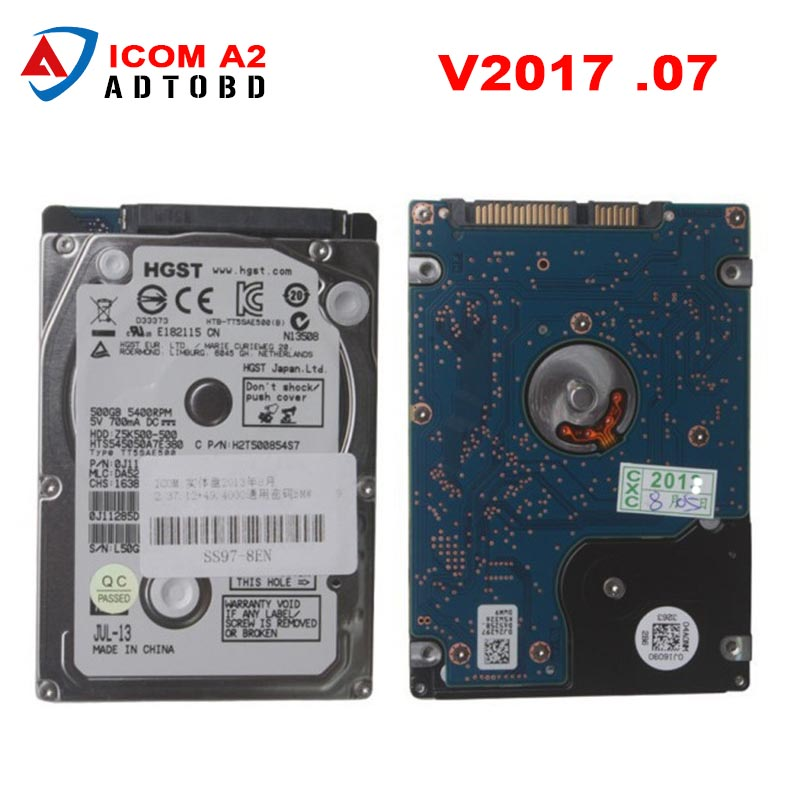 2017 Newest Version ICOM A2 HDD for BMW High Quality Professional HDD 320G for BMW Icom a2 hdd V2017.07 Free Shipping  newest version icom a2 hdd for bmw a2 super hdd 320g for bmw icom a2 hdd v2016 9 support multi languages free shipping
