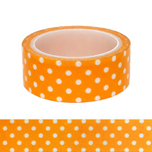 20pcs/set Special Vigorous Orange-yellow White Circular Wavepoint DIY Decoration Washi Tape Orange Image