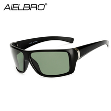 AIELBRO Men Polarized Cycling Sunglasses Fashion Gradient Male Driving Glass UV400 Polarised Goggle Style Eyewears lunette 2019