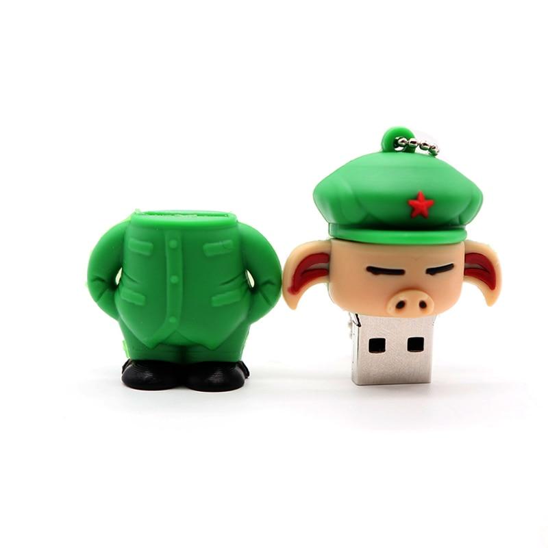 Pen drive cartoon pig usb flash drive 4GB 8GB 16GB 32GB 64GB 128G cute animal memory stick personalized gift pendrive usb stick